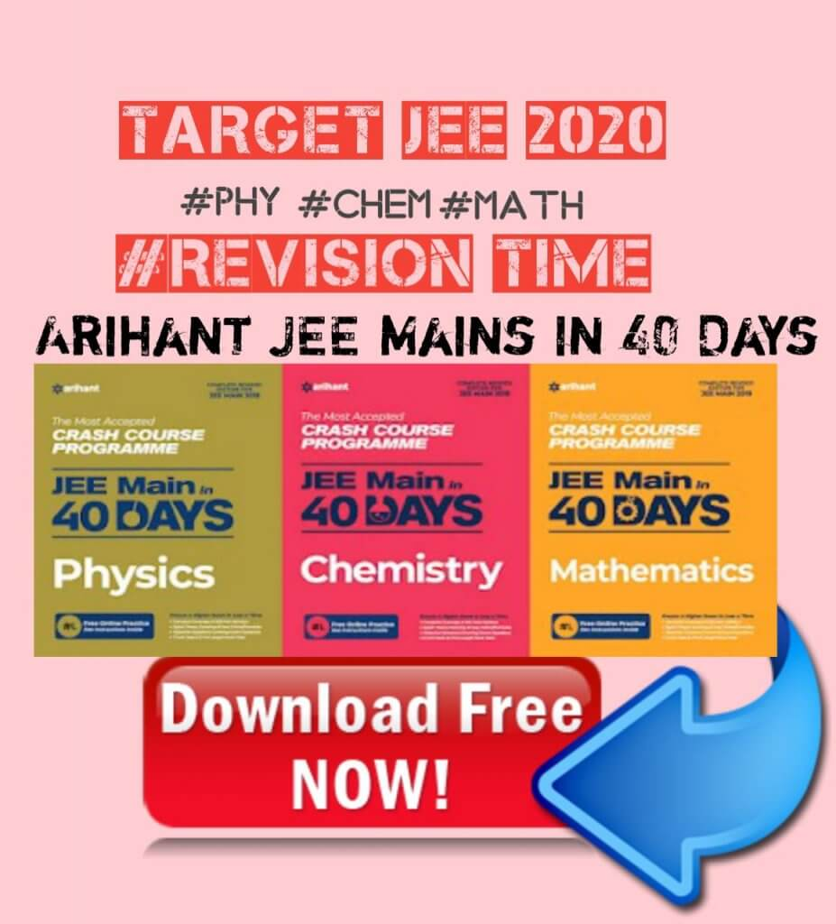 Arihant Jee Mains in 40 days pdf download