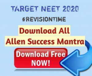 Allen Success Mantra pdf